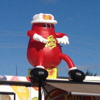 Mr Jelly Belly on location