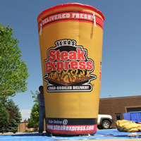 Texas Steak Express Inflatable Cup