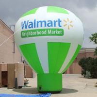Walmart Neighborhood Market Inflatable Hot Air Balloon Shape