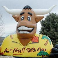 K-Bull Radio Mascot Inflatable
