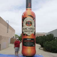 Giant Inflatable Bacardi Bottle
