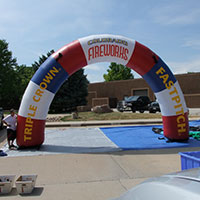 Triple Crown Fastpitch Fireworks Inflatable Arch