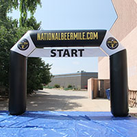 Beer Mile Run Inflatable Archway