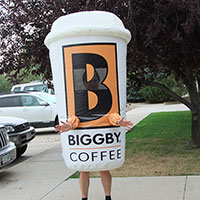 Biggby Coffee Inflatable Cup Costume