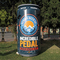Denver Beer Co Inflatable Can