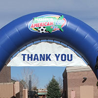 Kohls American Cup Inflatable Arch