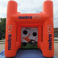 Metro PCS Inflatable Sport Booth Orange