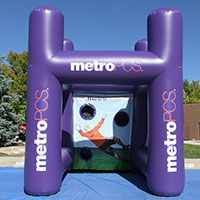 Metro PCS Inflatable Sports Cage Purple