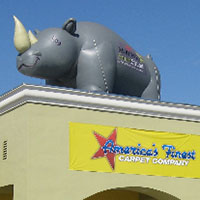 Mohawk Carpet Rhino Inflatable Mascot