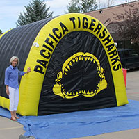 Pacifica Tigersharks Inflatable Tunnel