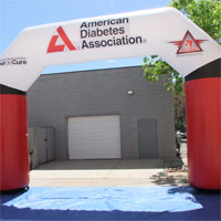 American Diabetes Association Inflatable Arch