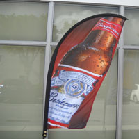 Budweiser Bow Flag Banner