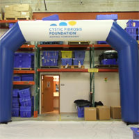 Cystic Fibrosis Foundation Inflatable Arch