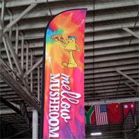 Mellow Mushroom Bow Flag Banner