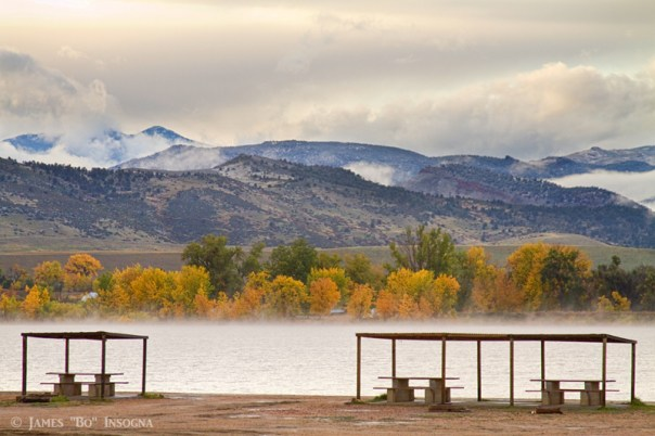 Foothills Reservoir Autumn View Boulder County