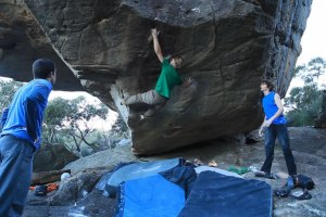 Nalle Hukkataival climbing in the Grampians of Australia