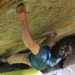 BD athlete Paul Robinson bouldering 8B+ in Austria's Zillertal