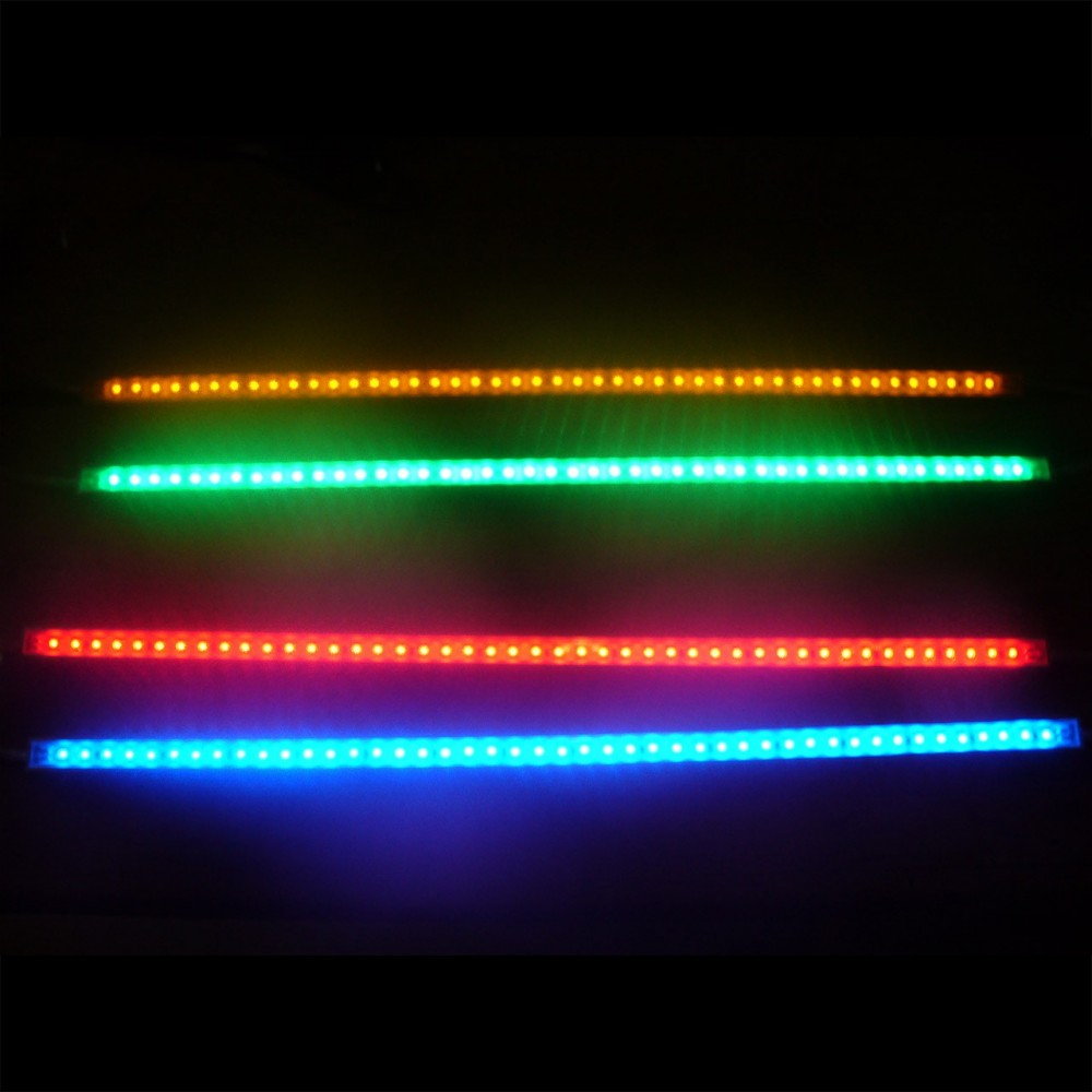 Projecteur Led Rgb Exterieur Reglette Led Rouge Verte Bleue Orange De 37cm 45 Leds Smd