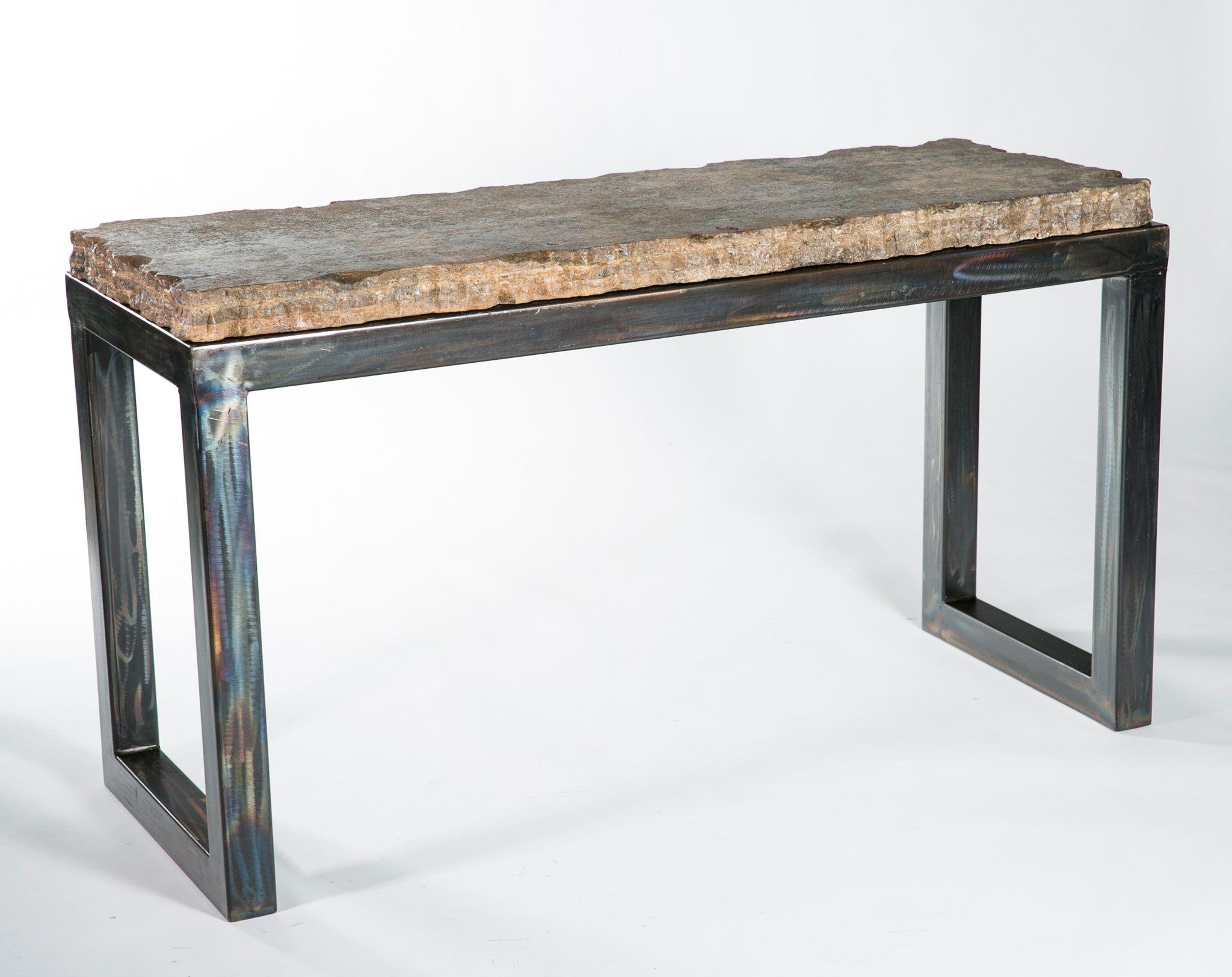 Urban Sofa Live Edge Chester Console Table With Live Edge Marble Top