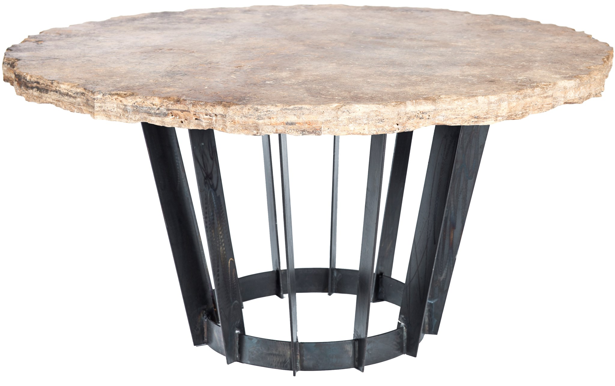 Urban Sofa Live Edge Dexter Dining Table With 48 Round Live Edge Marble Top