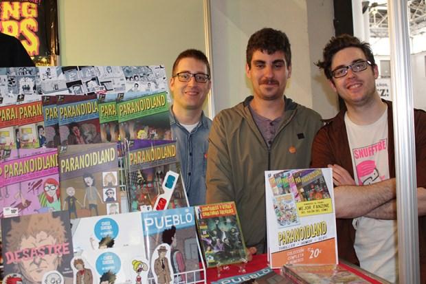 Miguel Martínez, Fran Fernández y Bouman, algunos de los autores de Paranoidland