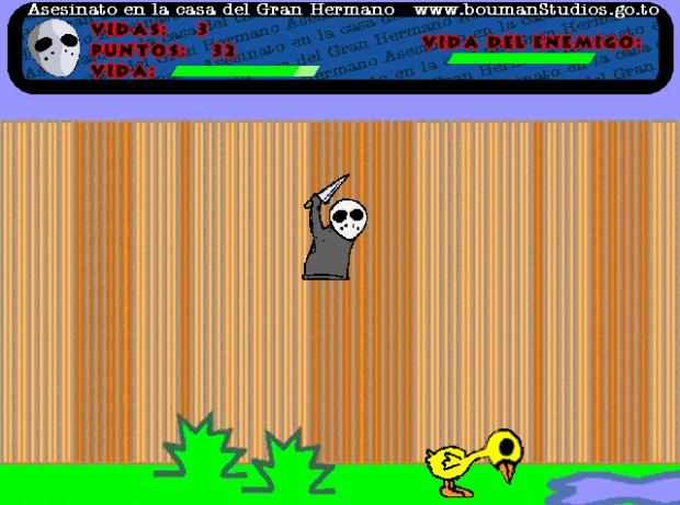 """Pantalla del juego """"Asesinato en la casa de Gran Hermano"""" (2000)"""