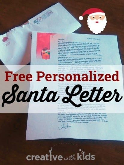 Get a Free Personalized Santa Letter for Your Child - child letter