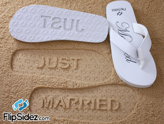 Sand Imprint Sandals - Just Married