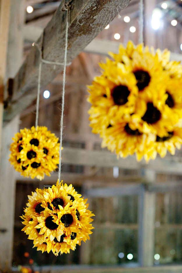 Hanging Sunflower Pomanders