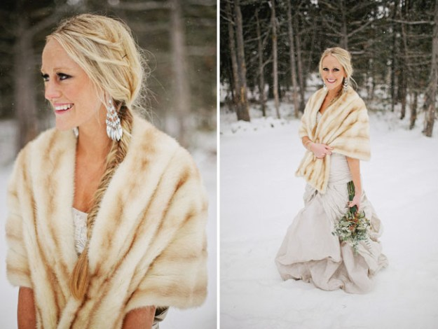 Fur Wedding Cape