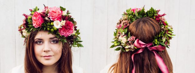 Gathered Style - Bloom Room Studio LTD - Large Bridal Flower Crown - Photo Credit Katie Spicer
