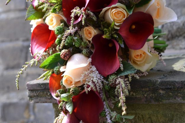 Shower Bouquet - Bloom Room Studio LTD - Calla, Rose & Astilbe Shower Bouquet