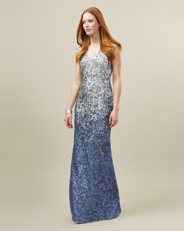 Charlie Sequined Full Length Dress - Phase Eight