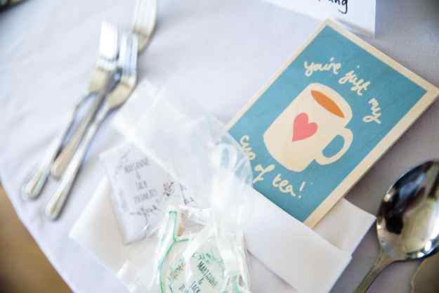 Marianne and Jack - Nonsuch Mansion - Tea Favours