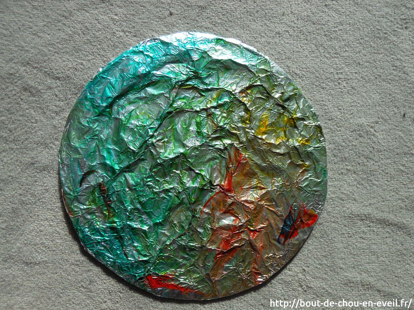 Activit peinture libre sur aluminium bout de chou en veil - Peindre sur de la peinture brillante ...