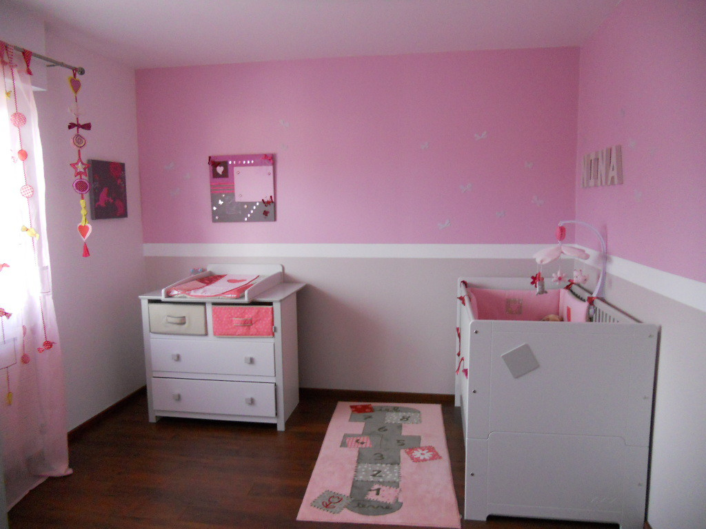 Idee Deco Chambre Bebe Fille Rose Et Gris Idee Deco Chambre Bebe Fille Rose Et Gris Visuel 6