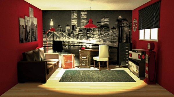 Ikea Ou Conforama Deco Chambre Theme New York