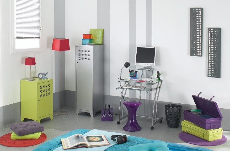 Bureau Chambre Ado   Table Basse Blanche Plateau Amovible Pour Salon