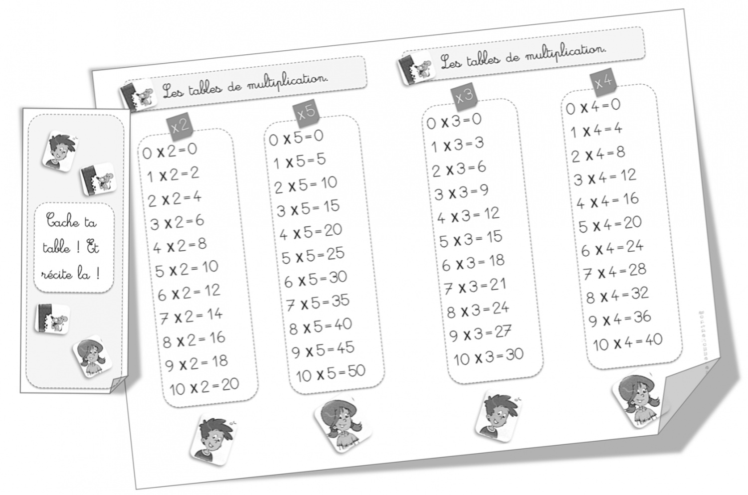 Table 6 Et 7 Tables De Multiplication Ce1 Bout De Gomme