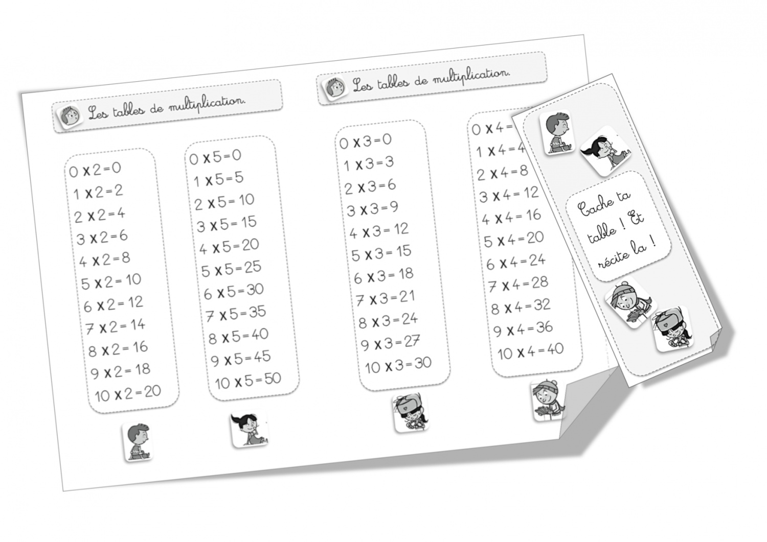 Table 6 Et 7 Exercice Table De Multiplication 2 3 4 5 Les Tables De