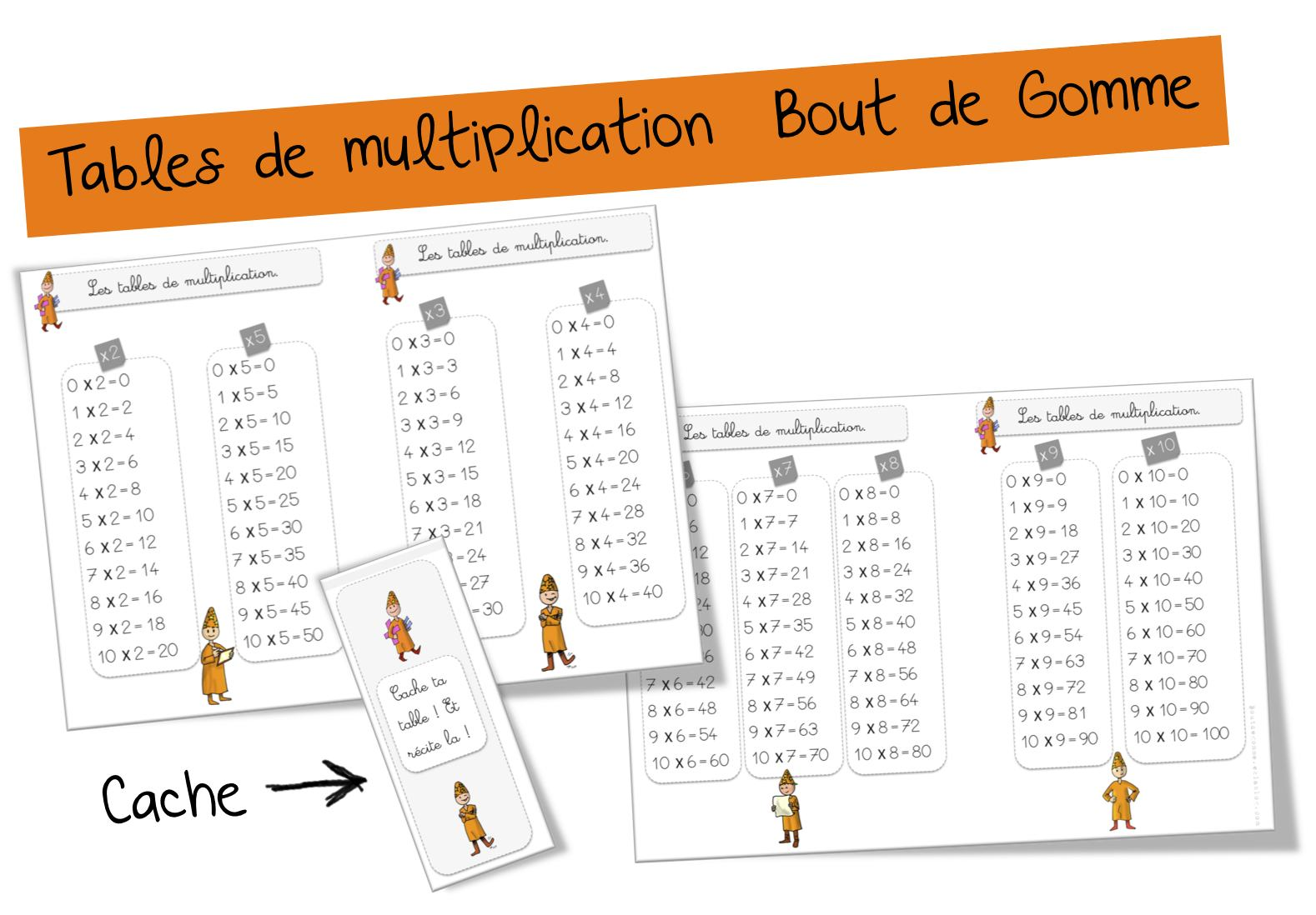Jeu Table De Multiplication Ce1 Tables De Multiplication Bout De Gomme