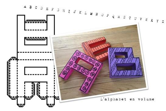 photo alphabet en volume