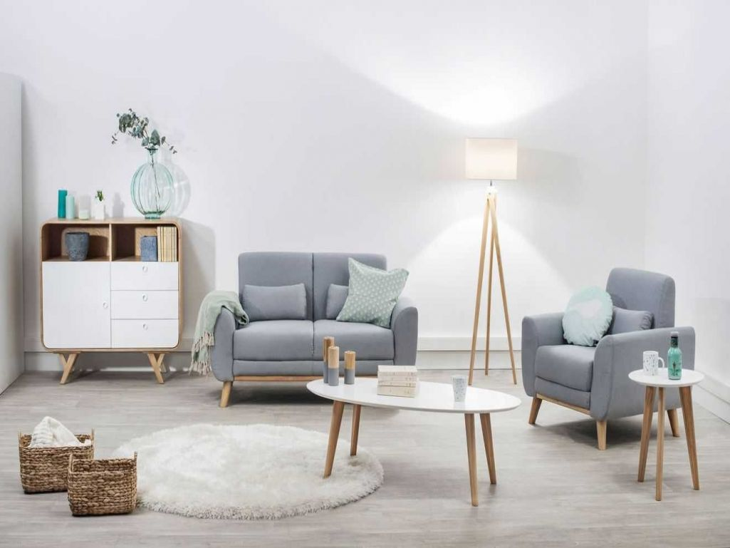 Salon Beige Deco Salon Beige Scandinave Boutique Gain De Place Fr