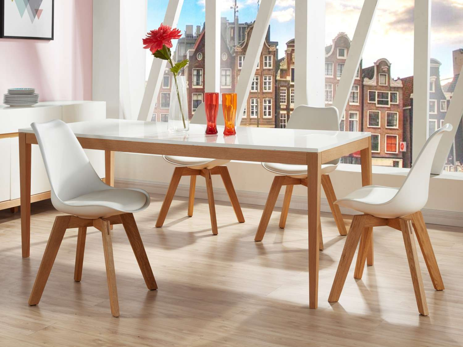Table Chaises Scandinaves Ensemble Table Et Chaise Scandinave Boutique Gain De Place Fr
