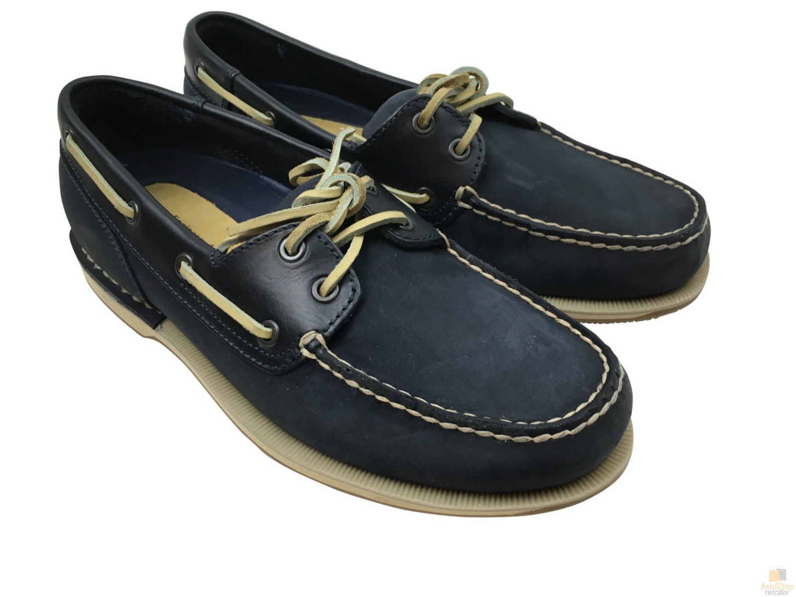 Perth Shoes Rockport Perth Boat Shoes Leather Casual Footwear Loafers
