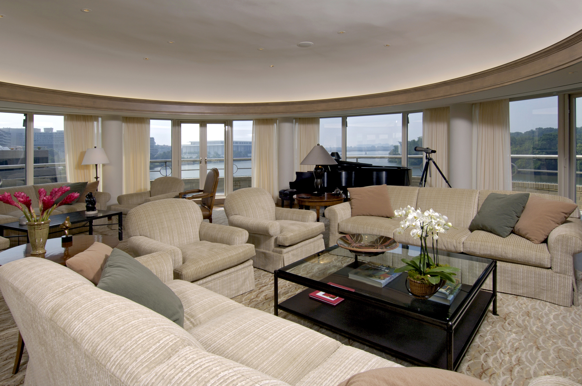 Award Winning Living Room Designs. Boston Red And Cream
