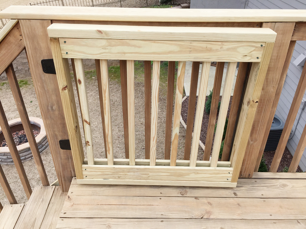 Diy Sliding Deck Gate Baby Gate Building Bower Power