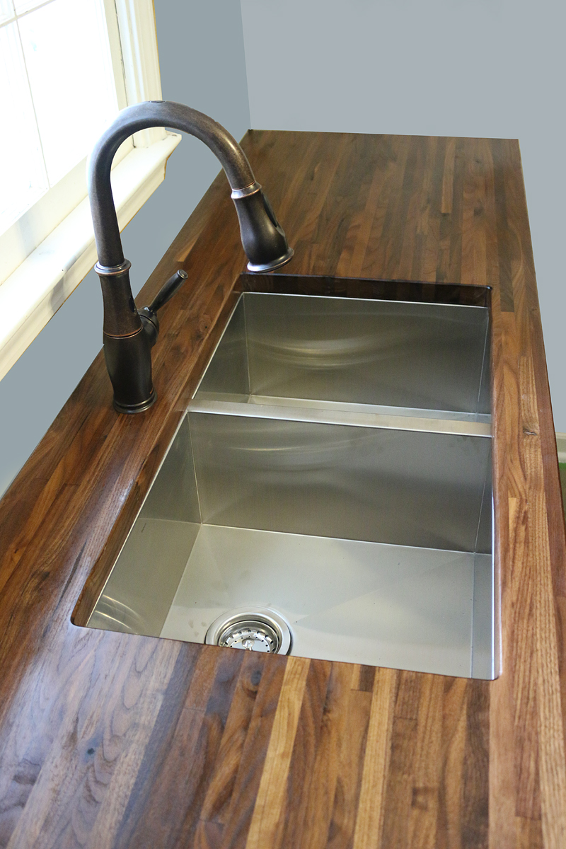 Ikea Butcher Block Countertop Installation How To Cut Seal Install Butcherblock Countertops With An
