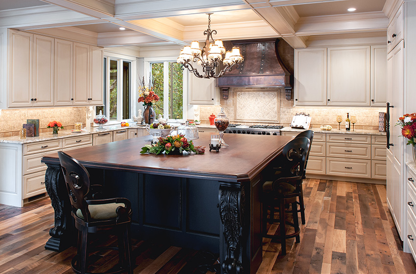 Hidden Electrical Outlets Kitchen Island Remodeling Project Profile - Big Island Kitchen Renovation