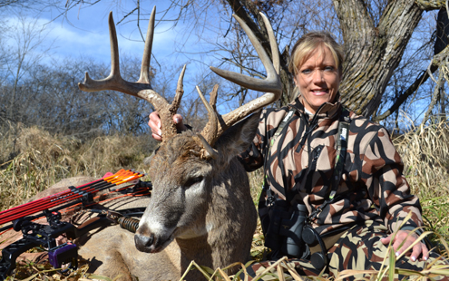 Author with her trophy buck.